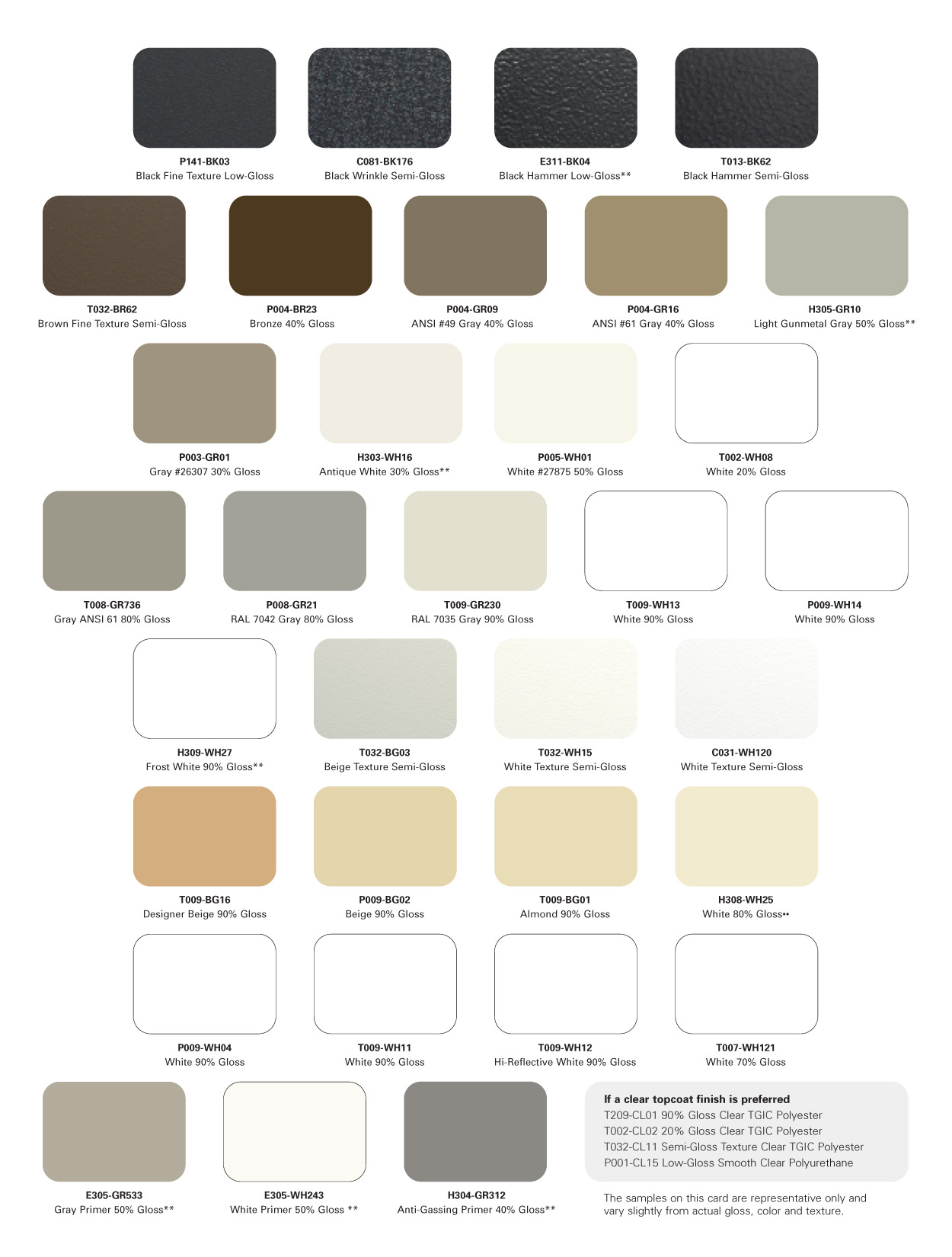 In-Stock Cardinal Powder Color Chart Page 2